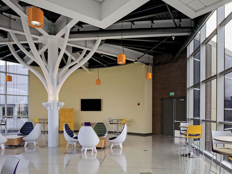 modern interior of building