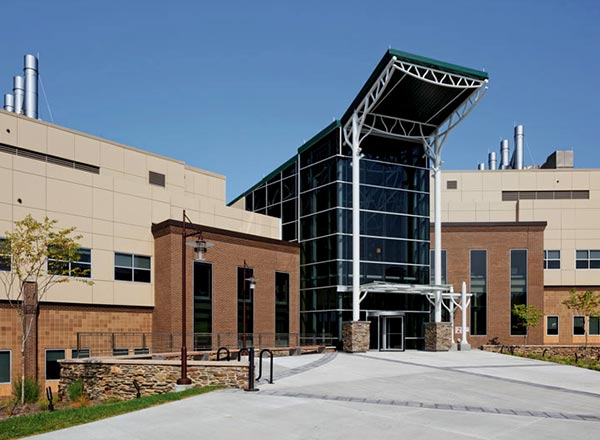 Exterior of Energy R&D Building on SUNY Binghamton campus