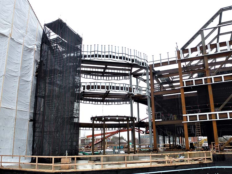 Steel Framed building during construction