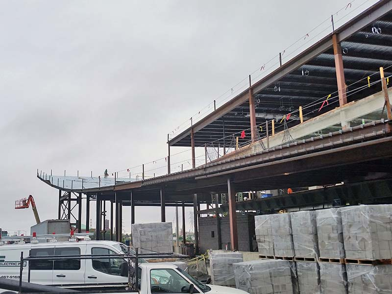 Steel I-Beam during construction