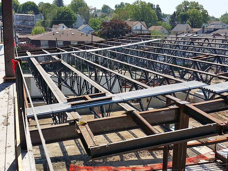 Steel I-Beam Roof Structure