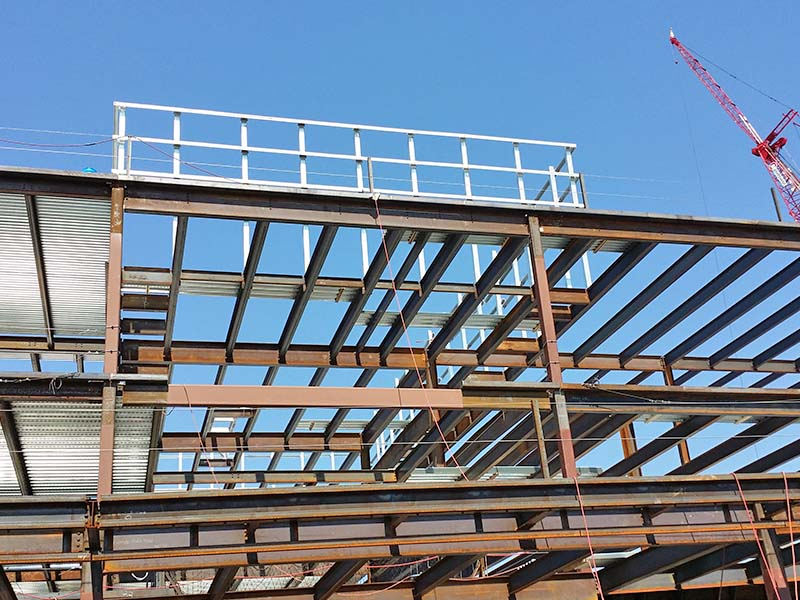 Steel I-Beam Structure during construction